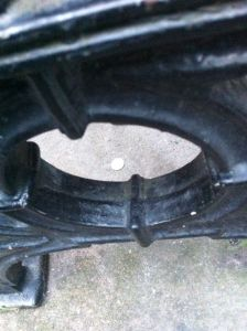 The Second 10p under a bench
