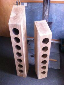 6 & 7 hole upright wine racks