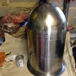 Polished nose cone ready for glass